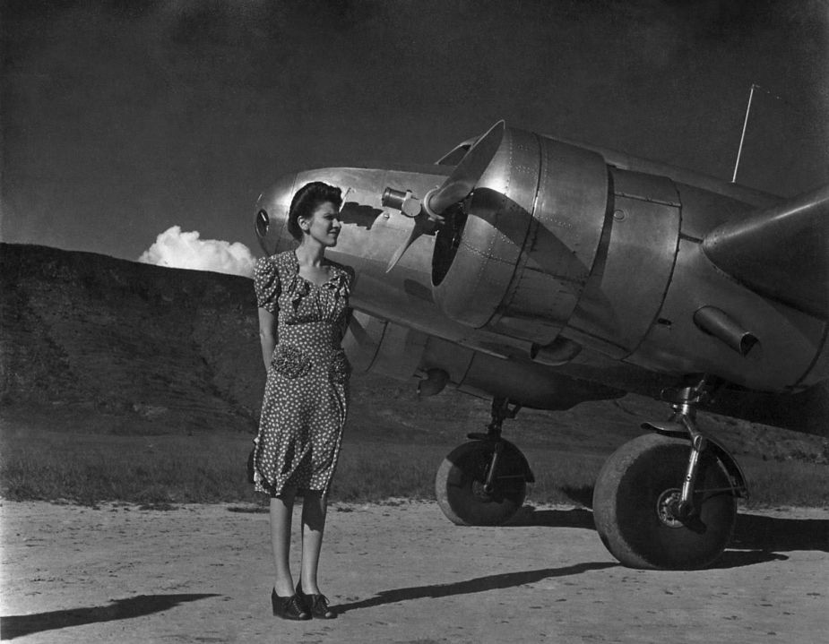 archival photograph of Anala Planchart taken at Gran Sabana, Venezuela (1935) used for El Cerrito