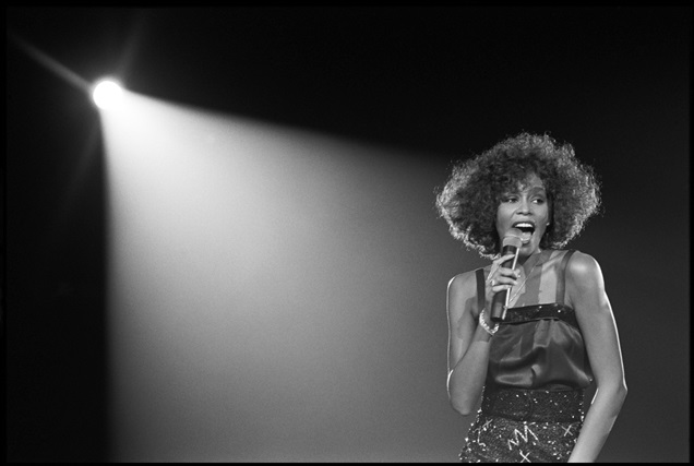 archival photograph of artist Whitney Houston by David Corio