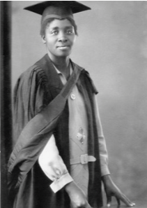 archival photograph of the first black woman to graduate in south africa