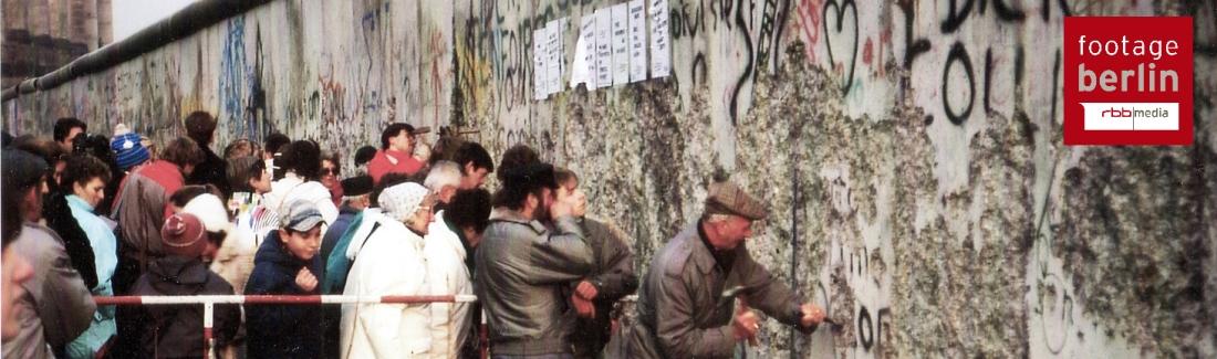 Berlin wall - rbb media archives - footage berlin.